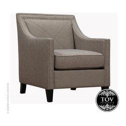 Tov Asheville Light Grey Linen Chair - Tov Asheville Light Grey Linen Chair