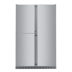 """Liebherr - SBS 241 48"""" 23.5 cu. ft. Built-in Side-by-Side Refrigerator  Intelligence Sensor - This Liebherr 48 side-by-side built-in refrigerator  freezer unveils a new concept in cooling technology Three separate compartments - The Liebherr refrigerator the freezer and the BioFresh unit - each have a dedicated cooling circuit which guarantee..."""