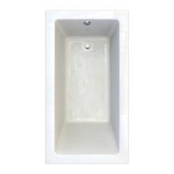 """American Standard - American Standard 2939.202.020 White Studio Studio 66"""" Acrylic Soaking - Product Features:Fully covered under a lifetime warranty; including free lifetime in-home serviceManufactured and assembled in CanadaSoaking tub; basic and easy to installAlcove installation: designed for niche / alcove installs; the three closed sides include a tile flange, open side includes a skirt leading down to the floorConstructed of ultra-durable fiberglass-reinforced acrylicSurfaced with the industry s best stain-blocking high-gloss finishTub proportions and contour designed by industry leading ergonomics engineersSlip-resistant flooring - textured finishing technique appliedSelf-leveling base structural support cuts installation time and costsTub waste (drain) is not included - this will be presented upon adding to cart, with multiple available finishesTechnologies / Benefits:Lifetime Warranty with In-Home Service: This tub is covered under the industry's only Limited Lifetime Warranty with free lifetime in-home service. This speaks volumes to the quality of American Standard tubs.Deep Soak: This patented overflow system works with an exclusive drain, positioned significantly higher within the bathing well. With water depths reaching 2"""" to 4"""" deeper than other bathtubs, Deep Soak tubs allow for better full-body submergence.Self-Leveling Base: A major time-saver during installation, this tub's self-leveling base eliminates the need to fret over a perfectly level base structural support… high-density compressible pads do the work for you, compensating for any imperfections. DIY'ers and contractors both appreciate this feature.Premium Acrylic: Luxury American Standard tubs all use premium acrylic for a reason: it retains a glossy finish, is flexible (will never chip, crack or craze), easy to clean, and far lighter"""