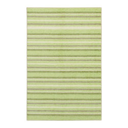 """Mohawk - Solid/Striped Cuddle 3'4""""x5' Rectangle Light Green-Green Area Rug - The Cuddle area rug Collection offers an affordable assortment of Solid/Striped stylings. Cuddle features a blend of natural Pink-Dark Pink color. Machine Made of Nylon the Cuddle Collection is an intriguing compliment to any decor."""