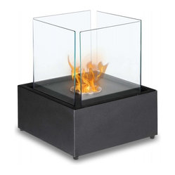Cube Extra-Large Tabletop Bio Ethanol Fireplace - Add a piece of living art to your space with this cube fireplace. You and your guests will marvel at the ingenuity of this mesmerizing visual as you watch the flames dance in the cube.