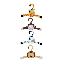 Teamson Design - Teamson Kids Sunny Safari Set of 4 Hangers - Teamson Design - Clothes Trees - TD0045A/1. Set of 4 adorable hangers to be used with our Sunny Safari Valet Rack or in your child's closet.