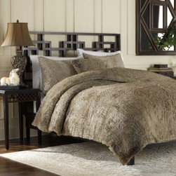 Ellery Holdings Llc - Luxury Fur Duvet Cover and Sham Set in Tan - As soft and beautiful as the real thing, this woven jacquard faux-fur duvet cover set is sure to add warmth and elegance to any bedroom. Expertly woven from luxurious yarns, this bedding provides the comfort and softness of genuine fur.