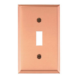 Renovators Supply - Switchplates Solid Copper Single Toggle/Dimmer Switch Plate - Single (1) Toggle, Single (1) Gang Switchplates: Our solid copper switch plates have a baked on finish that outlasts normal lacquer finishes. Every plate is protected with a peel-away plastic coating for protection in shipping. Mounting hardware included.