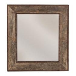 Native Trails - Vintner's Mirror in Bordeaux Finish - Made in U.S.A.li>Beveled Glass. Horizontal or Vertical Mounting. Unique barrel maker's stamp. 27 in. L x 26 in. W x 7 in. H ( 8 lbs.). SpecificationsMade from reclaimed wine barrel tops with custom-blended wax finish, showing off the original barrel maker's stamp. The oak is protected by a custom blended wax.