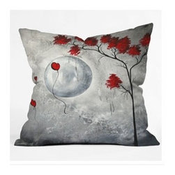"DENY Designs - Madart Inc. Far Side Of The Moon Throw Pillow - Wanna transform a serious room into a fun, inviting space? Looking to complete a room full of solids with a unique print? Need to add a pop of color to your dull, lackluster space? Accomplish all of the above with one simple, yet powerful home accessory we like to call the DENY Throw Pillow! Features: -Madart Inc collection. -Material: Woven polyester. -Sealed closure. -Spot treatment with mild detergent. -Top and back color: Print. -Made in the USA. -Closure: Concealed zipper with bun insert. -Small dimensions: 16"" H x 16"" W x 4"" D, 3 lbs. -Medium dimensions: 18"" H x 18"" W x 5"" D, 3 lbs. -Large dimensions: 20"" H x 20"" W x 6"" D, 3 lbs."