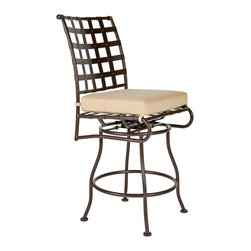Classico Swivel Bar Stool Without Arms - Available in counter stool option