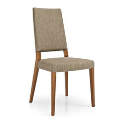 Calligaris - Sandy Upholstered High Backed Dining Chair (S - Fabric: Brighton CordPictured in Brighton Cord. Walnut finish frame. Classic wooden frame, suitable for living & dining areas. Upholstered seat and backrest are covered in stain-resistant anti-bacterial fabric, treated with NaturSphere and Silver Protection respectively. Highly comfortable chair thanks to the seat supported by elastic belts. Assembly required. Seat height: 17.75 in.. 19.125 in. W x 21.875 in. D x 38 in. H