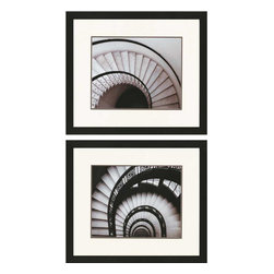 Paragon - Stairways PK/2 - Framed Art - Each product is custom made upon order so there might be small variations from the picture displayed. No two pieces are exactly alike.