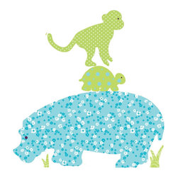 York Wallcoverings - Colorful Animal Silhouettes Large Wall Accent Sticker Set - Features: