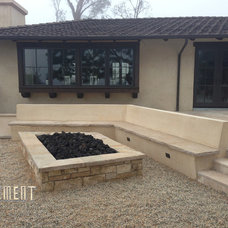 Contemporary Fire Pits by Element Construction Masonry & Paving