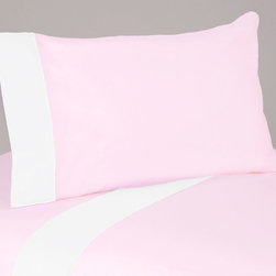 Sweet Jojo Designs - Sweet JoJo Designs 200 Thread Count Ballerina Bedding Collection Cotton Sheet Se - These sheets use solid pink 100-percent cotton fabric with a white trim. Made to coordinate with the matching Sweet JoJo bedding set, this sheet set is machine washable for easy care.