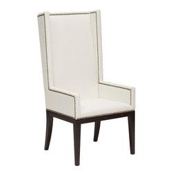 Daniel Arm Chair, White - http://www.highfashionhome.com/daniel-arm-chair--white.html