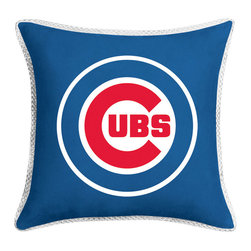 Sports Coverage Inc - MLB Chicago Cubs Accent Pillow MVP Baseball Bed Accessories - FEATURES: