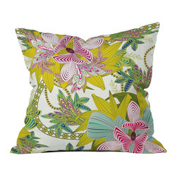 DENY Designs - Sabine Reinhart Life Is Music Throw Pillow - Wanna transform a serious room into a fun, inviting space? Looking to complete a room full of solids with a unique print? Need to add a pop of color to your dull, lackluster space? Accomplish all of the above with one simple, yet powerful home accessory we like to call the DENY throw pillow collection! Custom printed in the USA for every order.