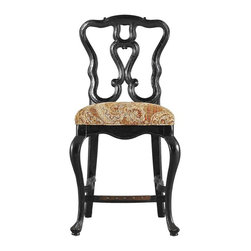 Stanley Furniture - Rustica-Counter Stool - Fall in love with the amazing details of the Counter Stool. From the graceful hand-carved scroll of the arms to the carved trifid-style foot, no element has been overlooked. The result is a Stool that is as comfortable as it is lovely, which is guaranteed to entice guests to linger.