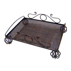 Iron Artistica Scroll Serving Tray