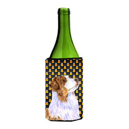 Caroline's Treasures - Australian Shepherd Candy Corn Halloween Portrait Wine Bottle Koozie Hugger - Australian Shepherd Candy Corn Halloween Portrait Wine Bottle Koozie Hugger Fits 750 ml. wine or other beverage bottles. Fits 24 oz. cans or pint bottles. Great collapsible koozie for large cans of beer, Energy Drinks or large Iced Tea beverages. Great to keep track of your beverage and add a bit of flair to a gathering. Wash the hugger in your washing machine. Design will not come off.