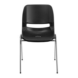 Flash Furniture - Flash Furniture Stack Chairs Plastic Student Stack Chairs X-GG-RHC-KB-21-TUR - We consider this student stack chair to be the premier stack chair - essential for every school and classroom setting. This ergonomic stack chair provides a body molded, high impact plastic shell set upon a chrome frame. The comfort-formed back and contoured seat with waterfall front will give you complete comfort and lasting durability. [RUT-12-BK-CHR-GG]