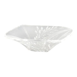 Dale Tiffany - Dale Tiffany GA80035 Clear Leaf Bowl - Dimensions: W 13.25 x L 13.25 x H 3.25