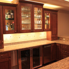 Traditional Basement by Iron Mountain Remodeling
