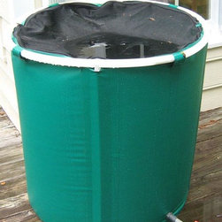 Home Decorators Collection - Pop-Up Water Barrel - 75 Gallon - The Pop-up Water Barrel features a two-way zippered mesh lid to keep leaves & debris out, while also providing easy access for your watering can or bucket. Save your excess rain water and grow your garden in a natural, eco-friendly way. 75 gallon capacity. Features a tap at the base with on/off valve. Can be connected to a garden hose. Can be taken apart and folded down for storage.