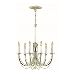 Candice Olson - Candice Olson Shelby Traditional Classic Chandelier X-H6-1077 - This classic design features just the right amount of texture and visual interest thanks to the crisp tones of the Chrome finish and the beautiful cascades of clear beaded accents. This AF Lighting chandelier from the Shelby Collection features sleek curves, candelabra style lights and small bobeches that complete the design.
