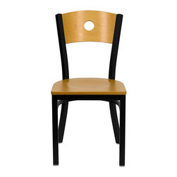 Flash Furniture - Flash Furniture Hercules Series Black Circle Back Chair in Natural - Flash Furniture - Dining Chairs - XUDG6F2BCIRNATWGG - Provide your customers with the ultimate dining experience by offering great food, service and attractive furnishings. This heavy duty commercial metal chair is ideal for restaurants, hotels, bars, lounges, and in the home. Whether you are setting up a new facility or in need of a upgrade this attractive chair will complement any environment. This metal chair is lightweight and will make it easy to move around. This easy to clean chair will complement any environment to fill the void in your decor. [XU-DG-6F2B-CIR-NATW-GG]