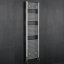 Hudson Reed Premium Chrome Curved Heated Bathroom Towel Radiator Rail 19.75 inch