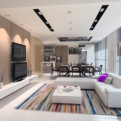 contemporary family room by senihomes