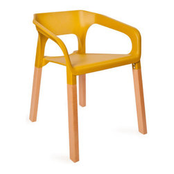 Mod Tangerine Chair - Bring revolutionary mod style to your home with this chair. With its cut-out design and heady tangerine color, it creates a witty statement in any space. The chair's good looks belie its sturdy nature: built out of solid timber legs and molded plastic, it can support up to 335 pounds.