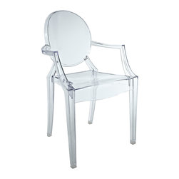 Modway - Modway EEI-520 Casper Novelty Chair in Clear - Great for displays, ethereal appearance, this versatile Armchair is a cute mini collectors item.