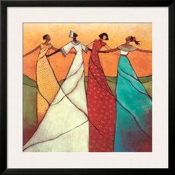 Artcom - Unity by Monica Stewart - Unity by Monica Stewart is a Framed Art Print set with a SOHO Black wood frame and a Polar White mat.