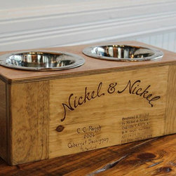 Reclaimed Products - Available in Small / Medium / Large these dog bowls are made from reclaimed wine barrels. Each one contains unique Cooperage stamps and markings.