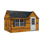 Fifthroom - Victorian Chalet Shed with Cedar Lap Siding -