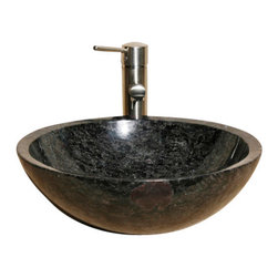 The Allstone Group - V-VR166 Night Rose Polished Vessel Sink - Natural stone strikes a balance between beauty and function. Each design is hand-hewn from 100% natural stone.  Vessel sinks can be the most inspiring feature in a bathroom, adding style and beauty to any bath space.  Stone not only is pleasing to the eye but also has the feel of something natural and solid.