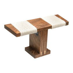 "Zen Posture - Ronin Meditation Bench (Portable, Folding, Multiple Woods), Walnut - Named after ""the wandering samurais"" of ancient Japan, the Ronin is a versatile, superbly crafted collapsible bench that is ideal for both home use and destination meditation. The Ronin was designed by a Colorado biomechanics expert and will help properly position your spine for greater comfort during your practice. Custom steel hinges connect the Ronin's legs to its base so you can instantly fold up this already compact bench for hassle-"