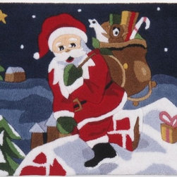 Momeni - Momeni Christmas Xm-12 Multi Rug - Xmas0Xm - Ho ho ho! Keep santa real with this christmas design.