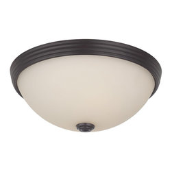 "Savoy House - 11"" Flush Mount Cream Glass - These Savoy House flush mount fixtures can be used in a wide variety of spaces."