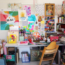 Eclectic Home Office by Sweet William