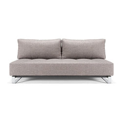 """Chicago Sofa Bed - The Chicago Sofa Bed is made with the premium 10"""" thick mattress, making it both comfortable for sleeping and sitting and also our most popular sofa bed! Available in a selection of fabrics."""