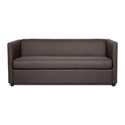 "RED LIVING - Moretti Dark Grey Sofa Sleeper - The Moretti is a pracitcal yet stylish sofa bed, ideal for a small guest room or a student's apartment. At 67.3"" wide, the Moretti can easily accomodate 2 people."