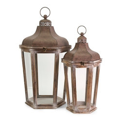 "IMAX CORPORATION - Layla Oversized Lanterns - Set of 2 - Light the night sky with style... this set of two Layla oversized lanterns add ambience to any outdoor area. Set of 2 in various sizes measuring around 33.75""L x 17""W x 19.5""H each. Shop home furnishings, decor, and accessories from Posh Urban Furnishings. Beautiful, stylish furniture and decor that will brighten your home instantly. Shop modern, traditional, vintage, and world designs."