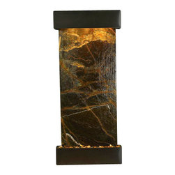 Inspiration Falls Wall Fountain, Blackened Copper, Rainforest Green Marble, Squa - The Inspiration Falls Wall Fountain is a centerpiece of serenity and beauty of nature that is perfect for your home or office. It exudes an experience of being one with nature within your own workplace or living room.