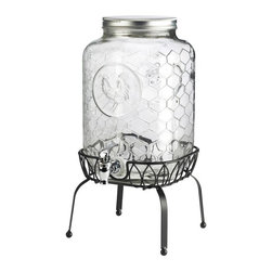 Global Amici - Global Amici Gallo Nero Beverage Dispenser with Stand Multicolor - 7YS010R - Shop for Beverage Dispensers and Servers from Hayneedle.com! Patio party block party shower - whatever your next gathering the Global Amici Gallo Nero Beverage Dispenser with Stand will make a great addition to your buffet. Inspired by sunny summer days its clear glass construction features a honeycomb texture and rooster in relief. The plastic spigot provides a smooth even pour and the included metal stand elevates the spigot to that perfect no-spill height. Use indoors or outdoors - wherever the celebration takes you. Hand wash. About Global Amici Inc.Global Amici was established in 1982 on the sole principle of providing outstanding houseware products to its customers at a reasonable price. Each product focuses on design functionality and beauty. No matter what the occasion Global Amici offers products that showcase style that can help transform ordinary food and everyday dining into a special presentation not to be forgotten.