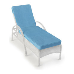 Rockport All-Weather Wicker Single Adjustable Chaise Lounge, White