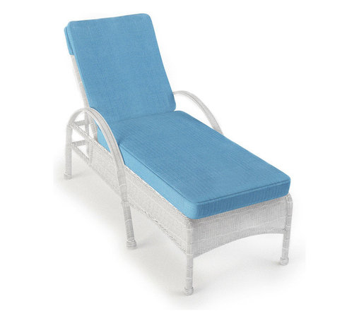 Forever Patio - Rockport Outdoor Wicker Chaise Lounge, White Wicker - No patio or poolside is complete without the beauty and comfort of the Rockport Single Adjustable Chaise Lounge (SKU FP-ROC-CL-WH-AB). Its UV-protected White wicker and round-weave design creates a cheery, traditional look that is made to last. This lounge includes fade- and mildew-resistant Sunbrella cushions; the industry's best outdoor fabric.
