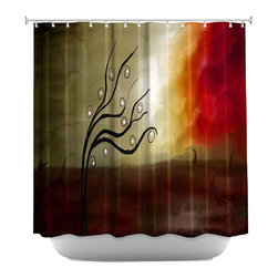 DiaNoche Designs - Shower Curtain Artistic - Wild Desire I - DiaNoche Designs works with artists from around the world to bring unique, artistic products to decorate all aspects of your home.  Our designer Shower Curtains will be the talk of every guest to visit your bathroom!  Our Shower Curtains have Sewn reinforced holes for curtain rings, Shower Curtain Rings Not Included.  Dye Sublimation printing adheres the ink to the material for long life and durability. Machine Wash upon arrival for maximum softness. Made in USA.  Shower Curtain Rings Not Included.