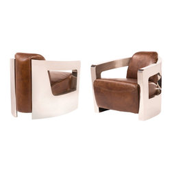 Four Hands - Sinclair Club Chair with Metal Arms -
