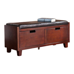 Holly and Martin - Capistrano 2-Drawer Bench - Add this gorgeous bench to your home for a simple solution to your storage and seating needs. This bench is the ultimate addition to complete your entryway with style.